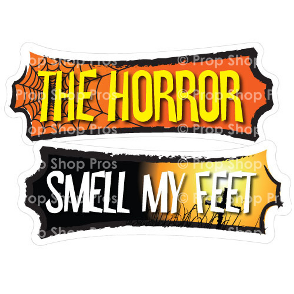 Halloween Signs | Halloween Part #1 | Photo Booth Props | Prop Signs