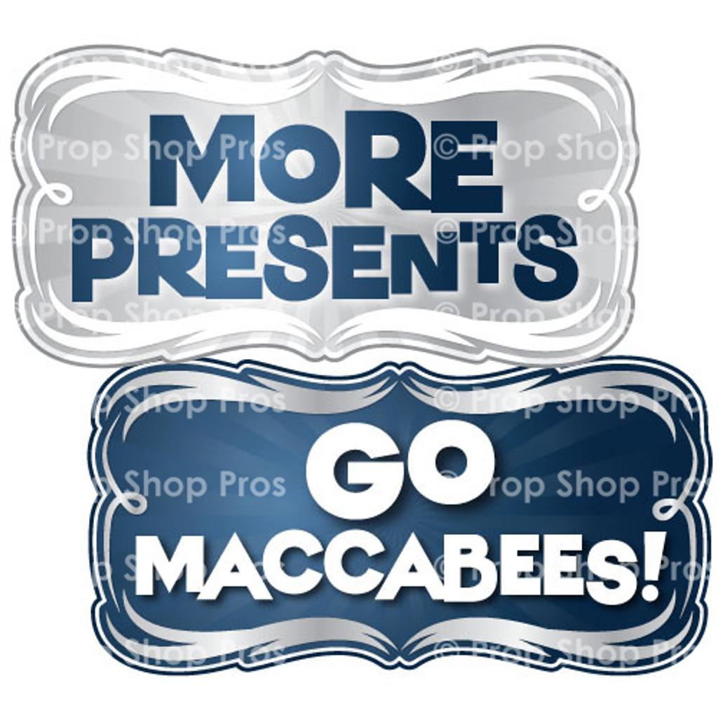 Prop Shop Pros Hanukkah Photo Booth Props More Presents & Go Maccabees