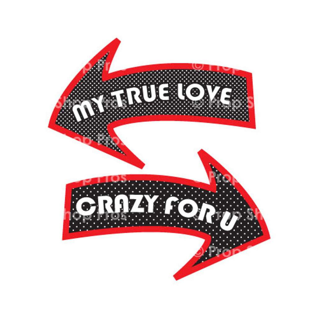 Prop Shop Pros Valentines Photo Booth Props My True Love & Crazy For u