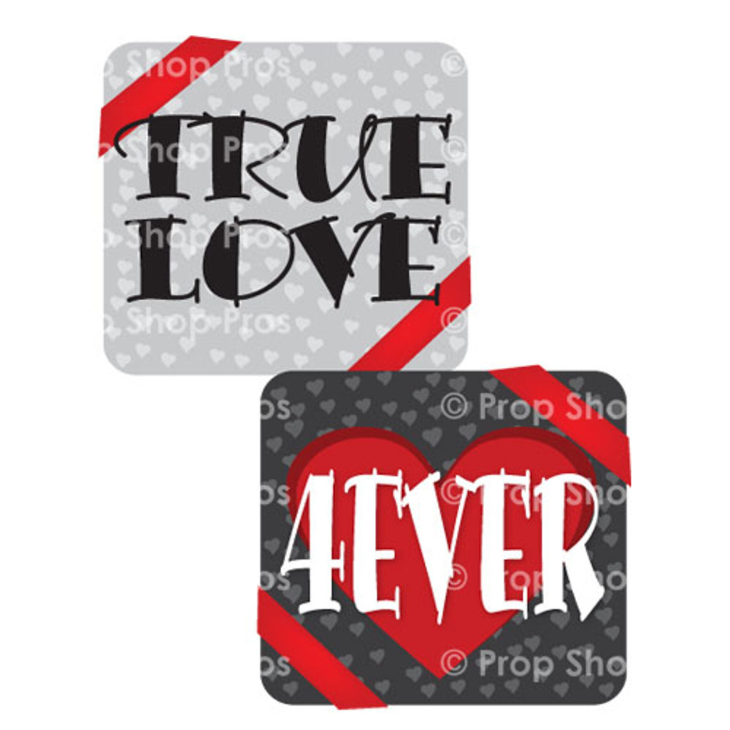 Prop Shop Pros Valentines Photo Booth Props True Love & 4 EVER