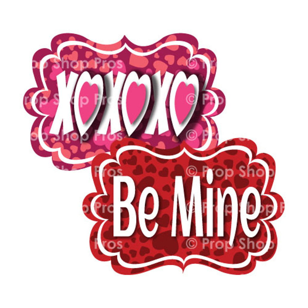 Prop Shop Pros Valentines Photo Booth Props XOXOXO & Be Mine