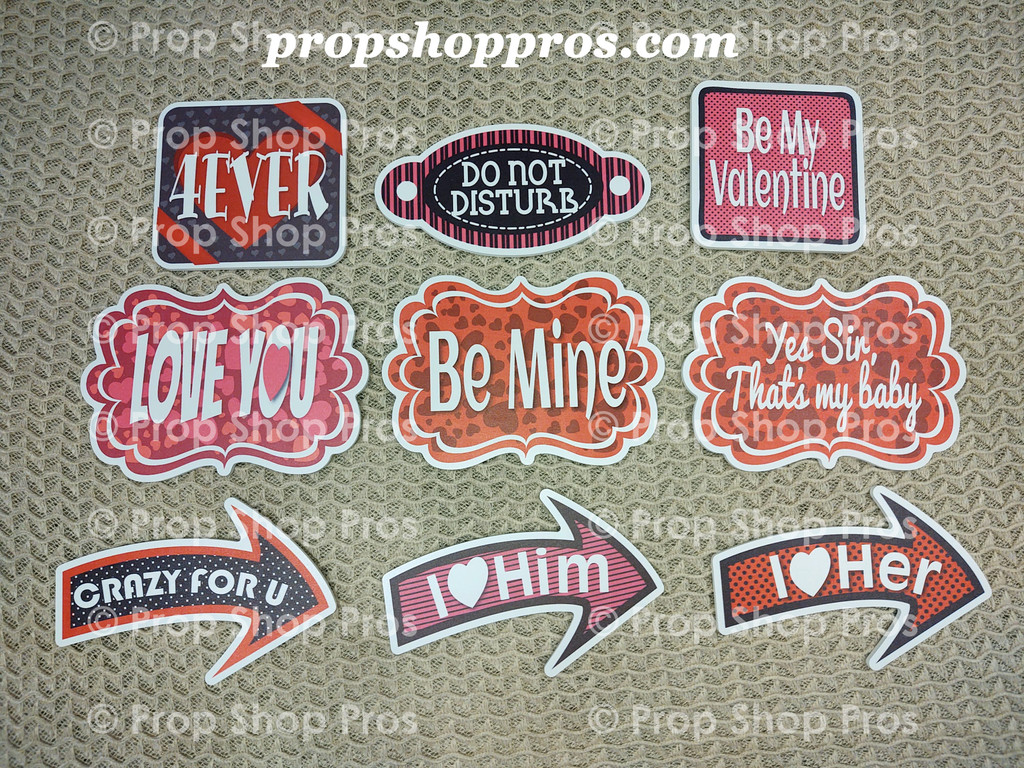 Valentine / LOVE Signs   Valentine Complete Bundle   Photo Booth Props