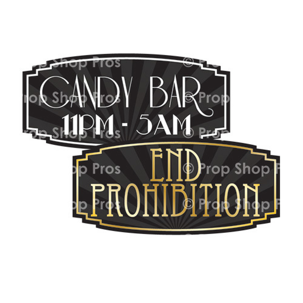 Prop Shop Pros Gatsby Photo Booth Props Candy Bar & End Prohibition