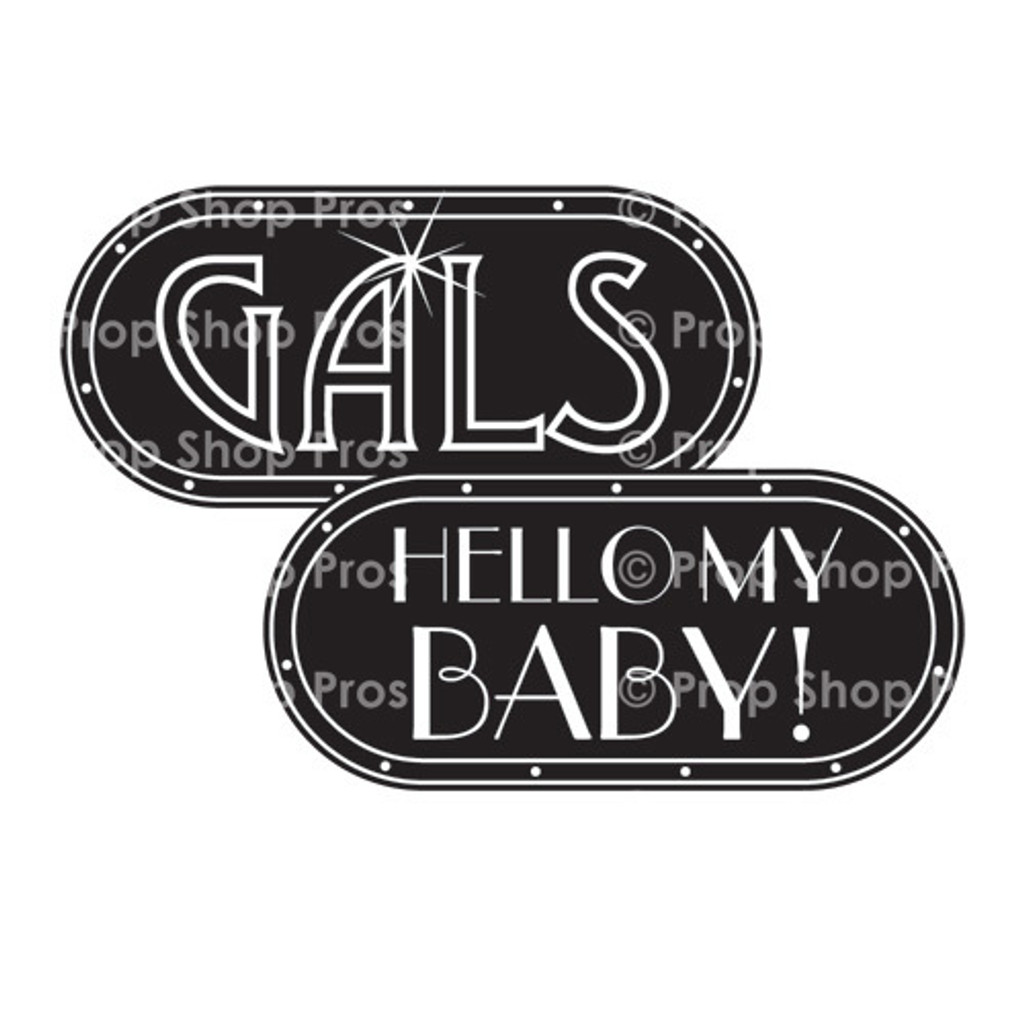 Prop Shop Pros Gatsby Photo Booth Props Gals & Hello My Baby