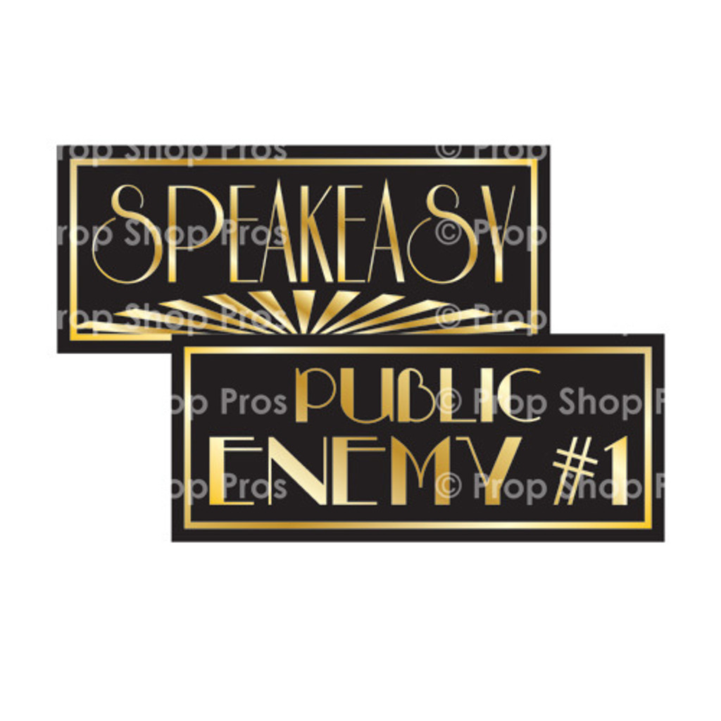 Prop Shop Pros Gatsby Photo Booth Props Speakeasy & Public Enemy 1