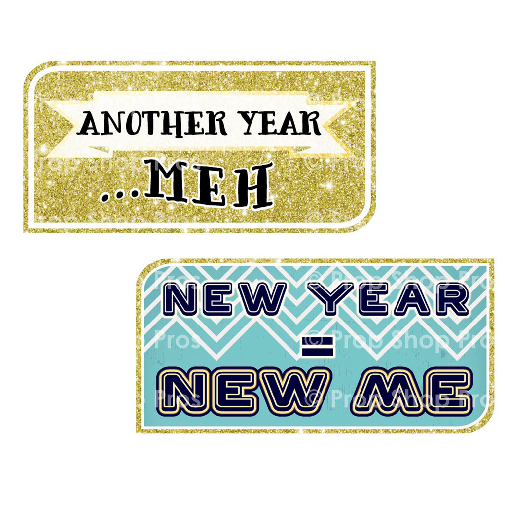 New Year Signs | Glitz Signs | Photo Booth Props | Prop Signs