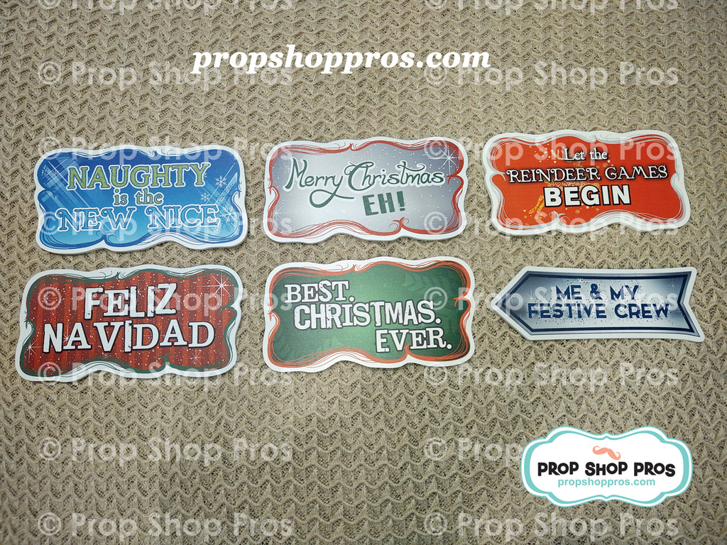 Christmas Signs | Traditional Complete | Photo Booth Props