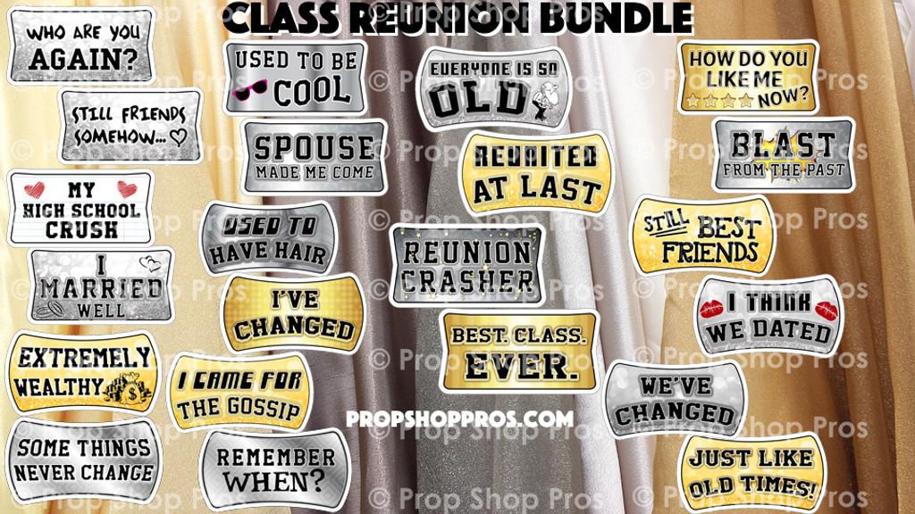 Prop Shop Pros Class Reunion Photo Booth Props