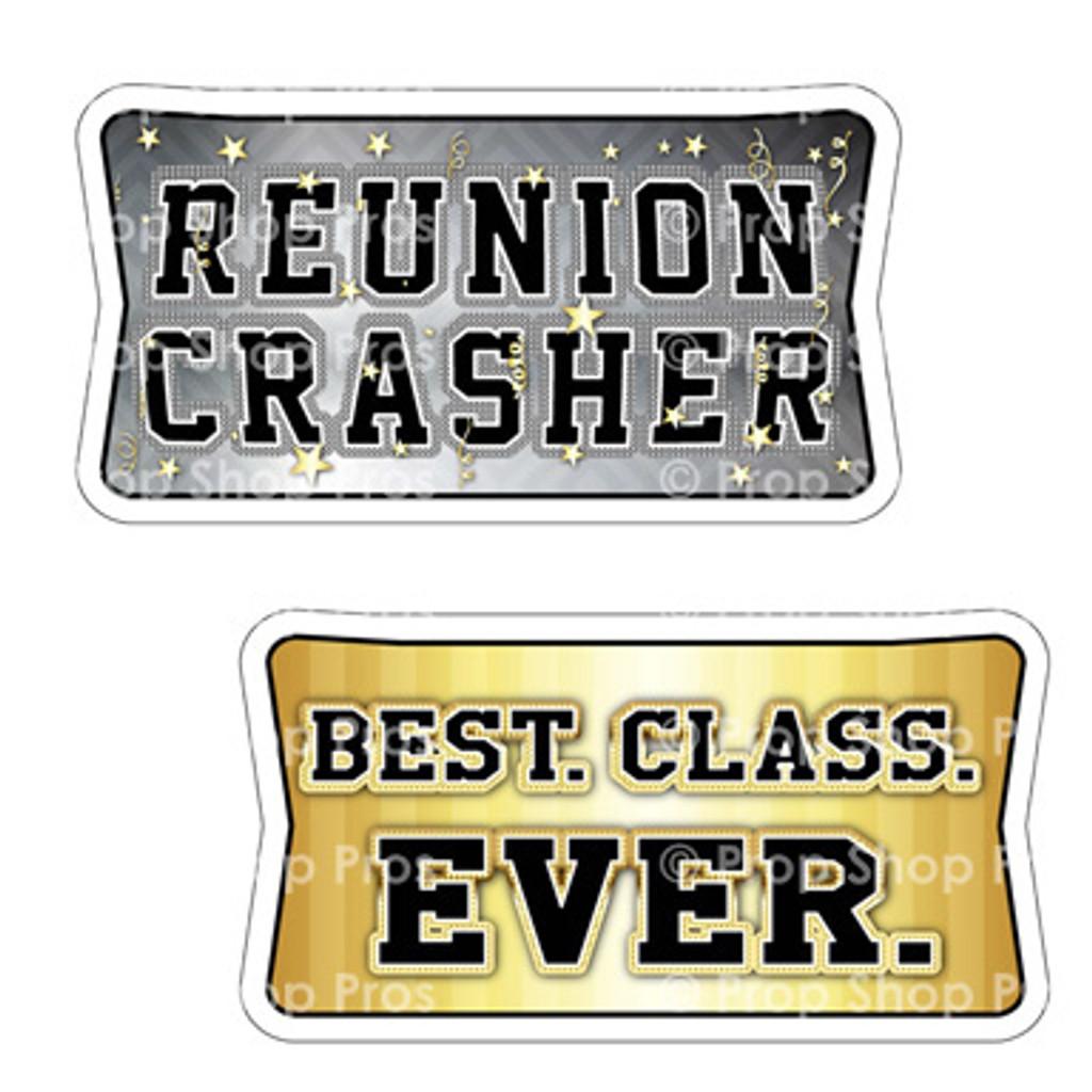 Prop Shop Pros Class Reunion Photo Booth Props Reunion Crasher & Best Class Ever
