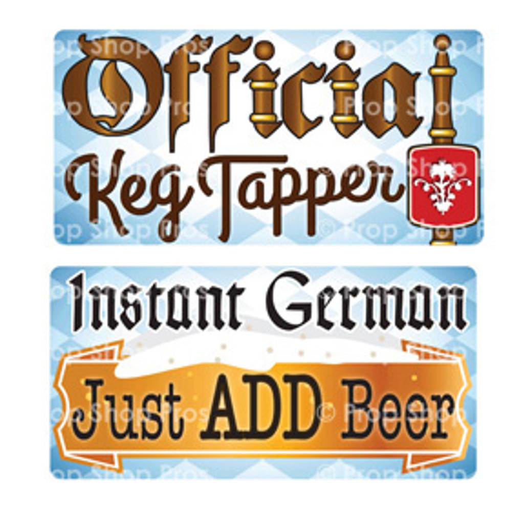 Prop Shop Pros Oktoberfest Photo Booth Props Official Keg Tapper & Instant German Just Add Beer