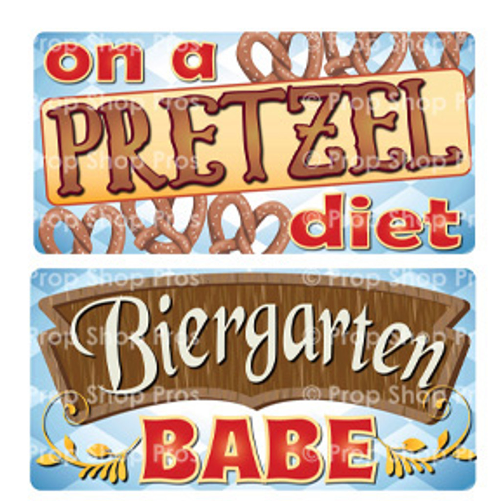 Prop Shop Pros Oktoberfest Photo Booth Props On A Pretzel Diet & Biergarten Babe