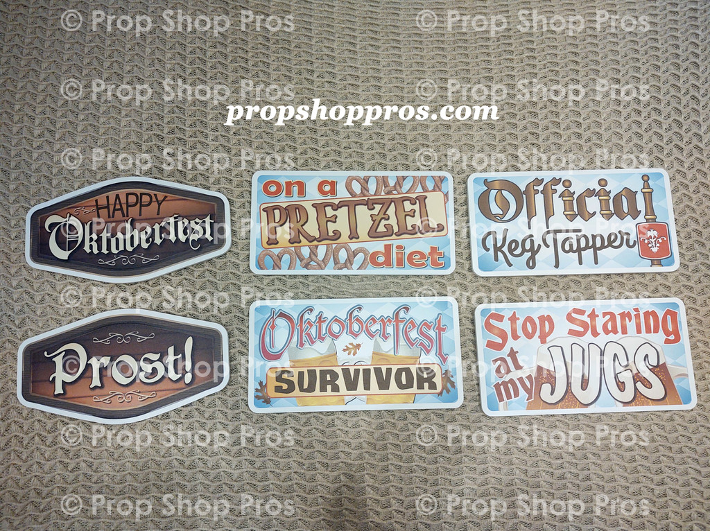 Oktoberfest Signs | Photo Booth Props | Prop Signs