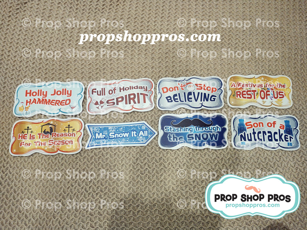 Christmas Signs | Traditional Part #3 | Photo Booth Props | Prop Signs
