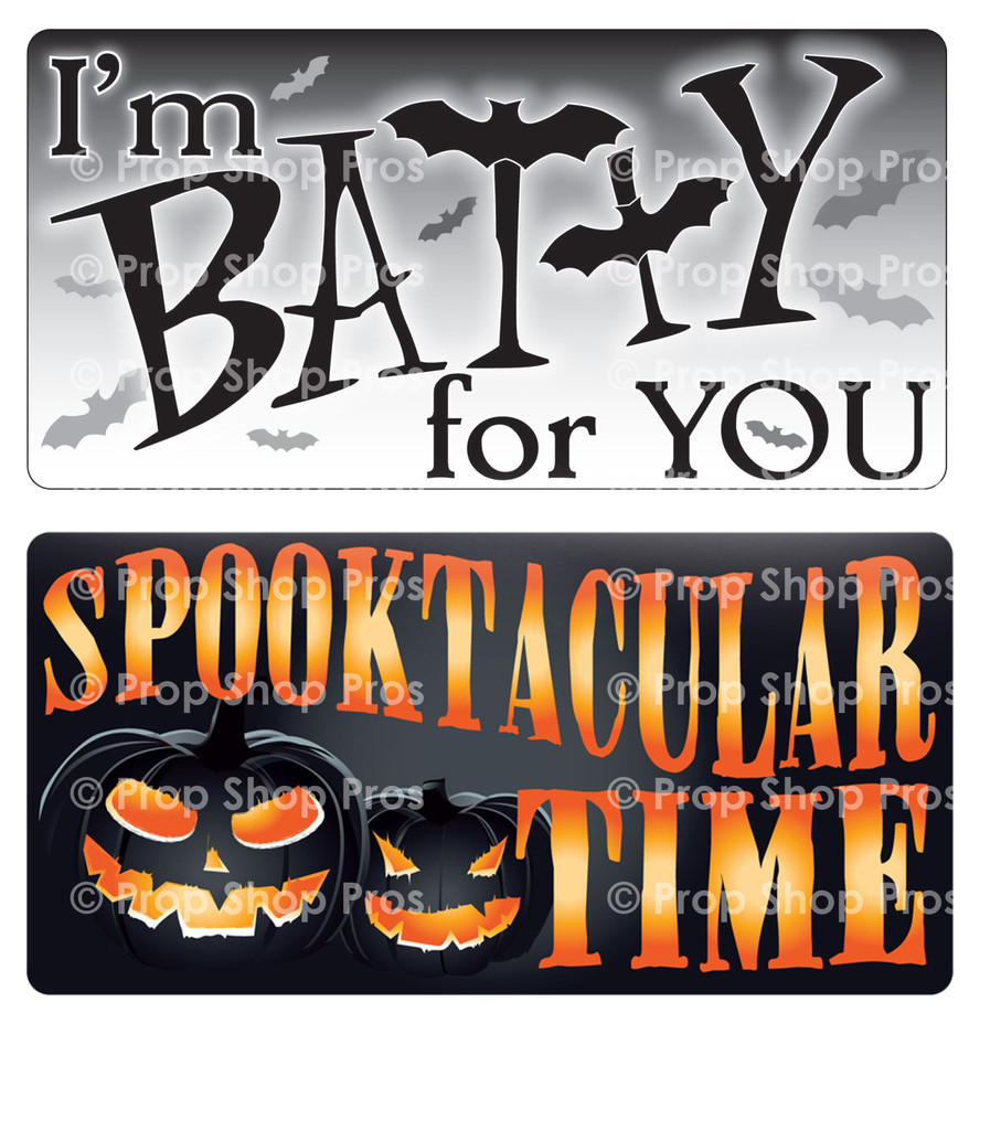 Halloween Signs | Halloween Part #2  | Photo Booth Props | Prop Signs
