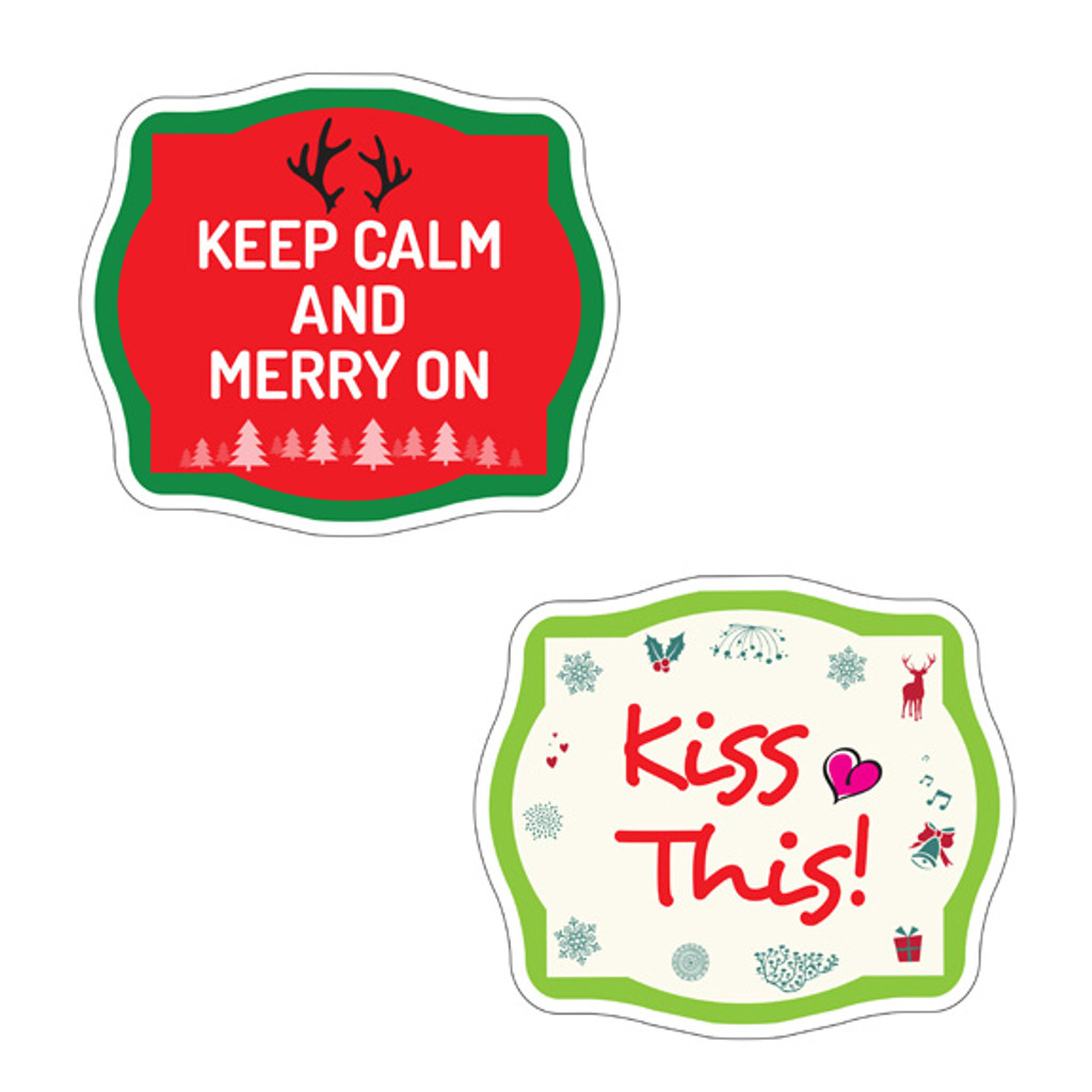 Christmas Signs   Fun Bundle   (Partial Bundle)(Fourteen Signs) 14 Of 16 Signs B-STOCK   Photo Booth Props   Prop Signs