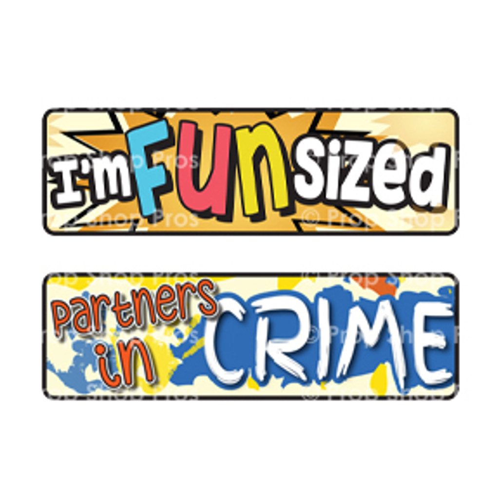 Prop Shop Pros Kid Friendly Photo Booth Props I'm Funsized & Partners In Crime