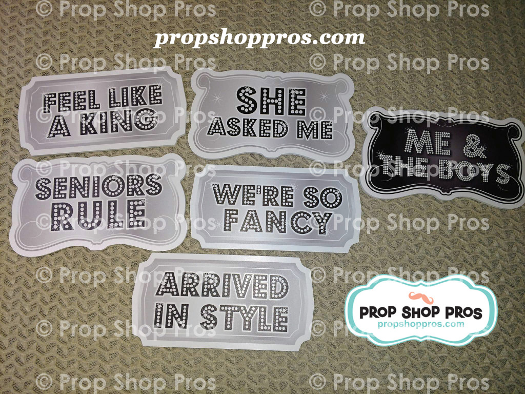 Prom Signs | Prom Part #3 | B-STOCK | Photo Booth Props | Prop Signs