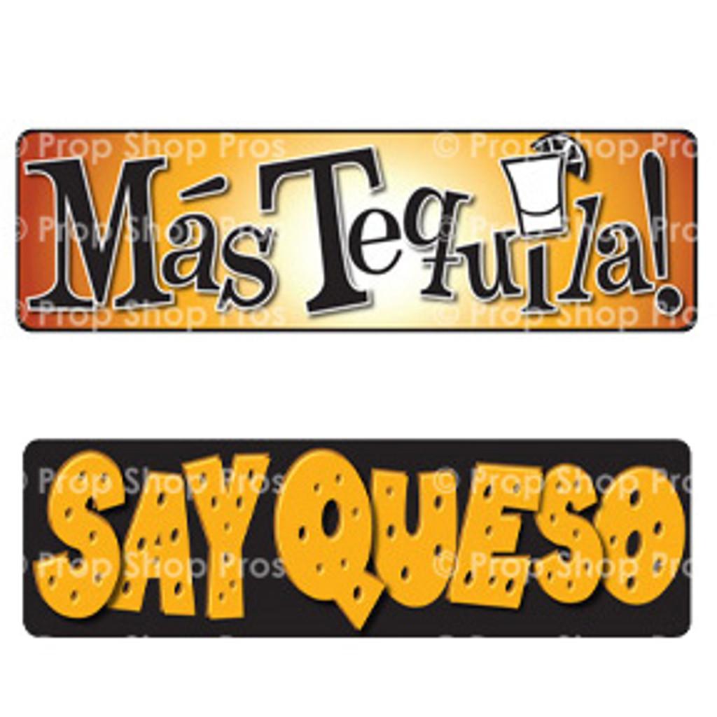 Prop Shop Pros Cinco De Mayo Photo Booth Props Mas Tequilia & Say Queso