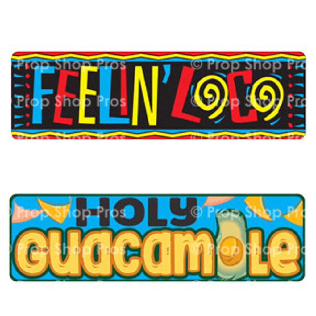 Prop Shop Pros Cinco De Mayo Photo Booth Props Feelin Loco & Holy Guacamale
