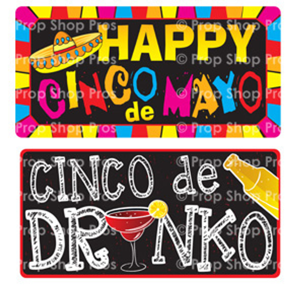 Prop Shop Pros Cinco De Mayo Photo Booth Props Happy Cinco De Mayo & Cinco De Drinko