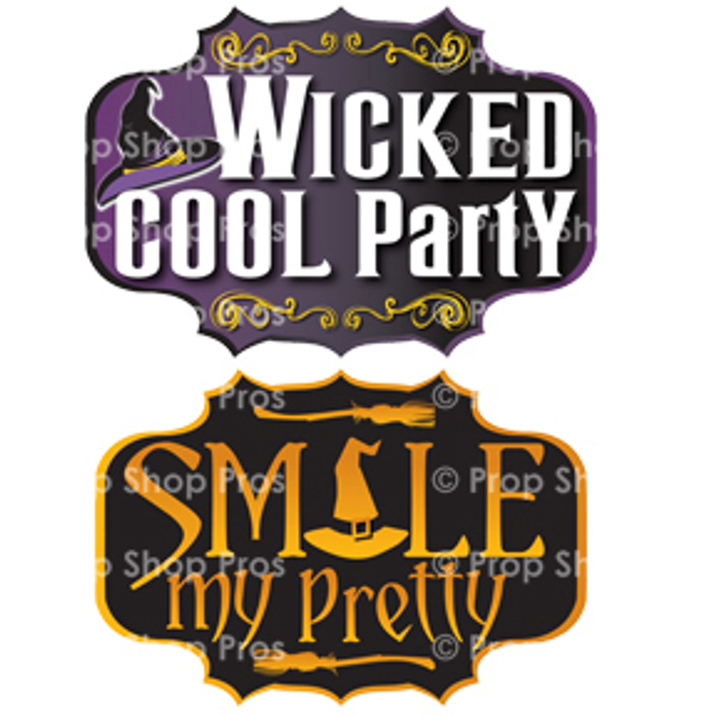 Prop Shop Pros Halloween Photo Booth Props Wicked Cool Party & Smile My Pretty
