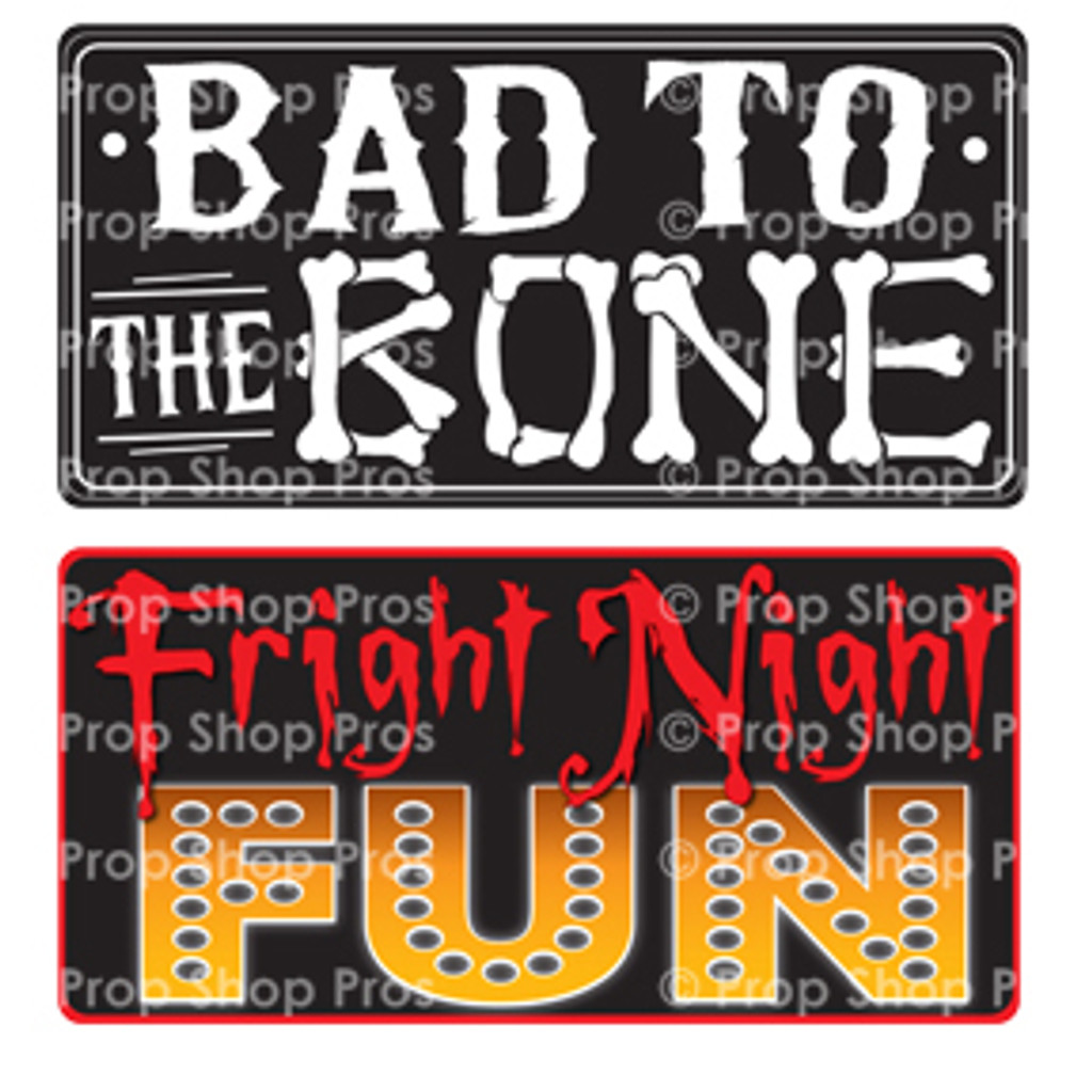 Prop Shop Pros Halloween Photo Booth Props Bad To The Bone & Fright Night Fun