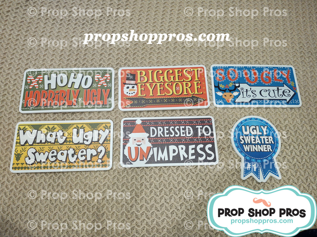 Ugly Sweater Signs | Christmas Signs | Photo Booth Props