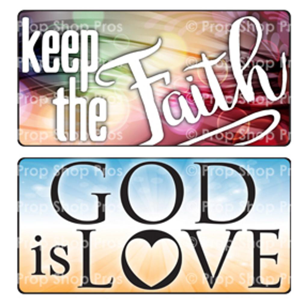 Prop Shop Pros Faith Photo Booth Props Keep The Faith & God Is Love