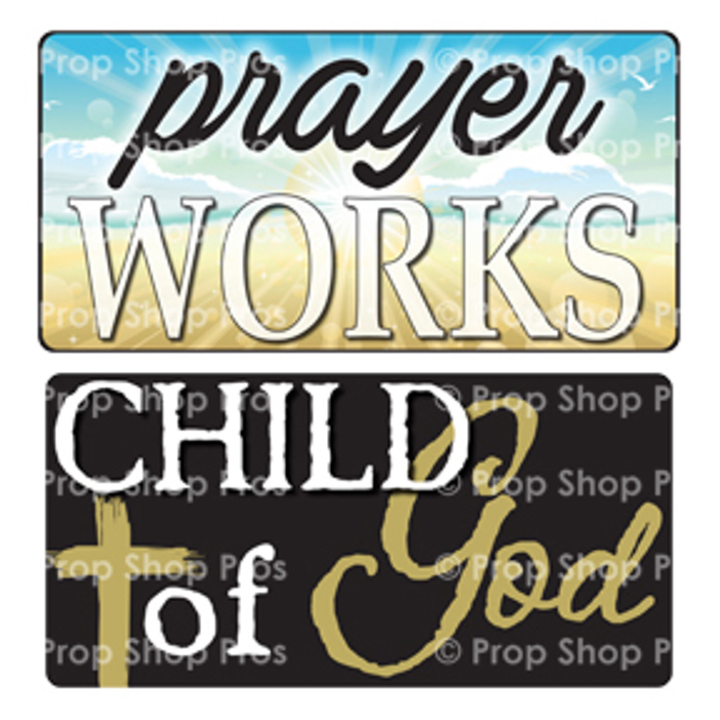 Prop Shop Pros Faith Photo Booth Props Prayer Works & Child Of God