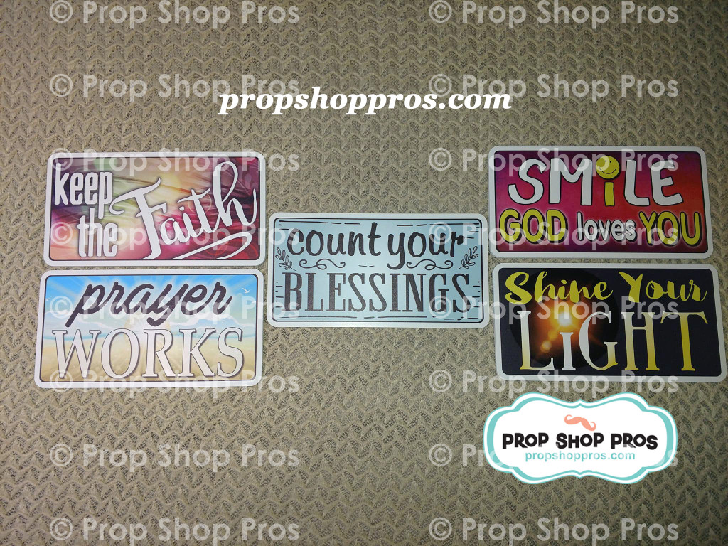 Faith Bundle | Religious Signs | Photo Booth Props | Prop Signs