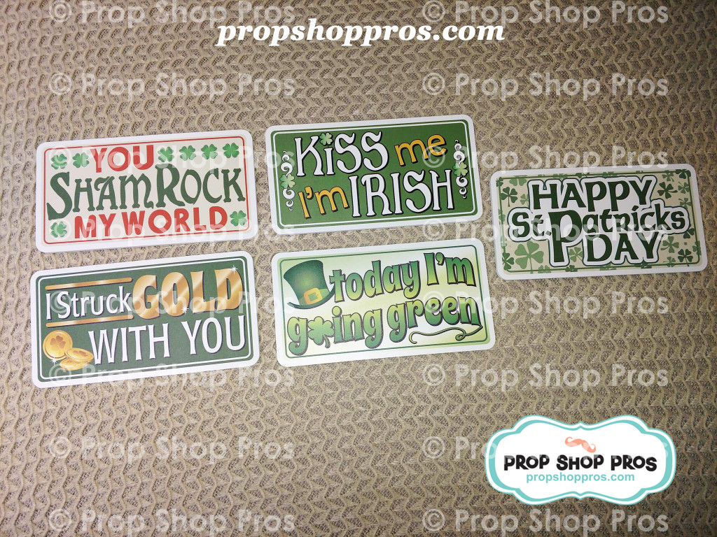 St. Patricks Day Signs | Photo Booth Props | Prop Signs