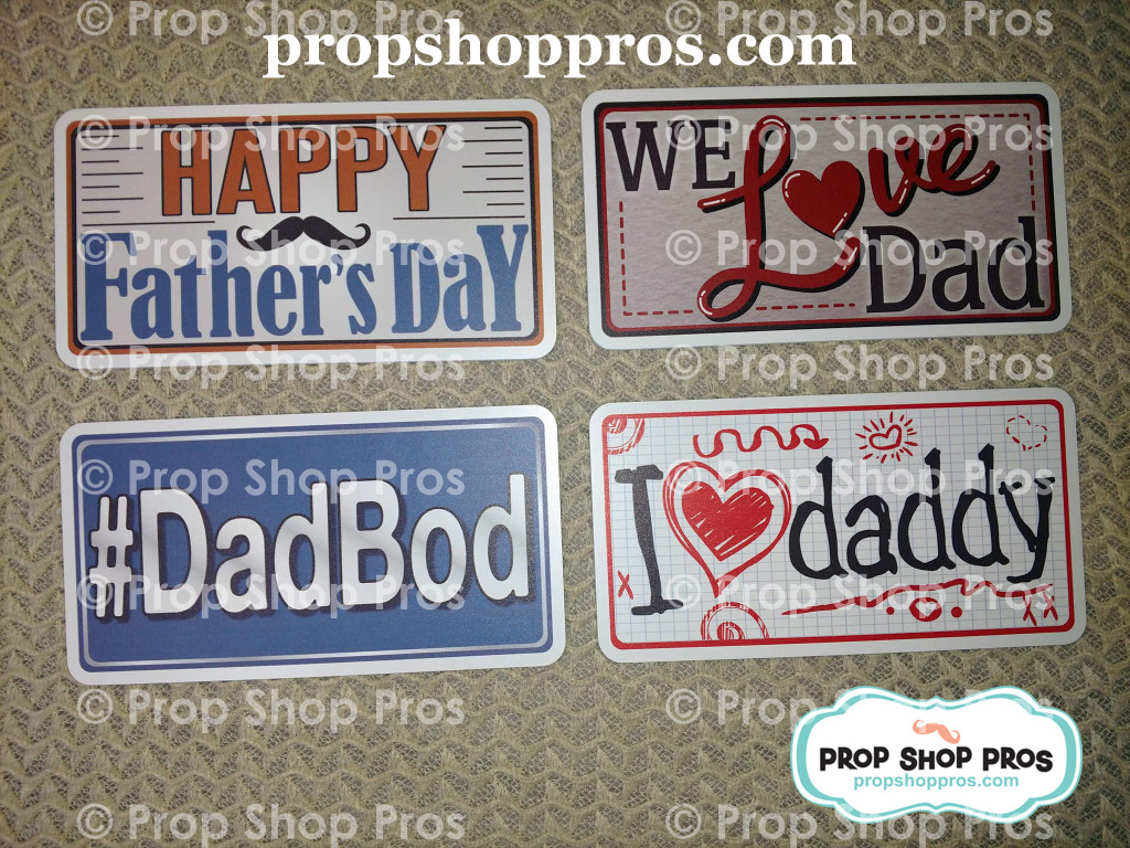 Fathers Day Signs | Photo Booth Props | Prop Signs