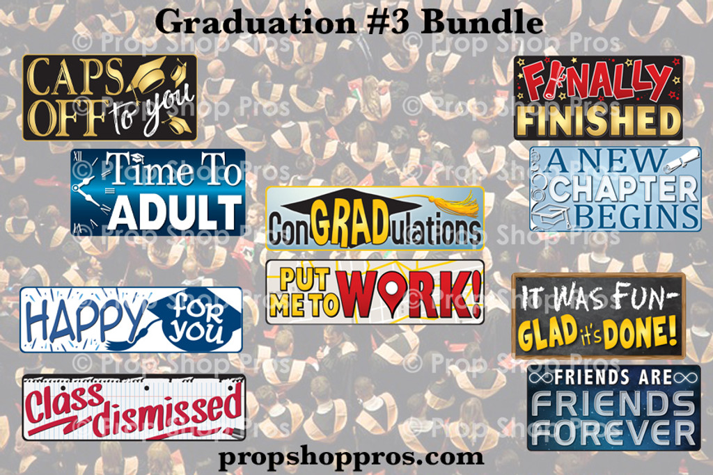 Graduation Signs Bundle #3 | B-STOCK | Photo Booth Props | Prop Signs