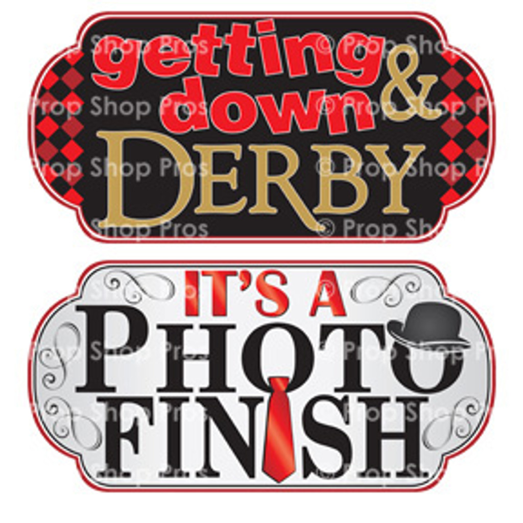 Prop Shop Pros Kentucky Derby Photo Booth Props Getting Down & Derby & It's A Photo Finish