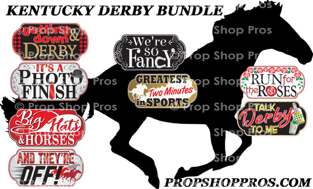 Prop Shop Pros Kentucky Derby Photo Booth Props