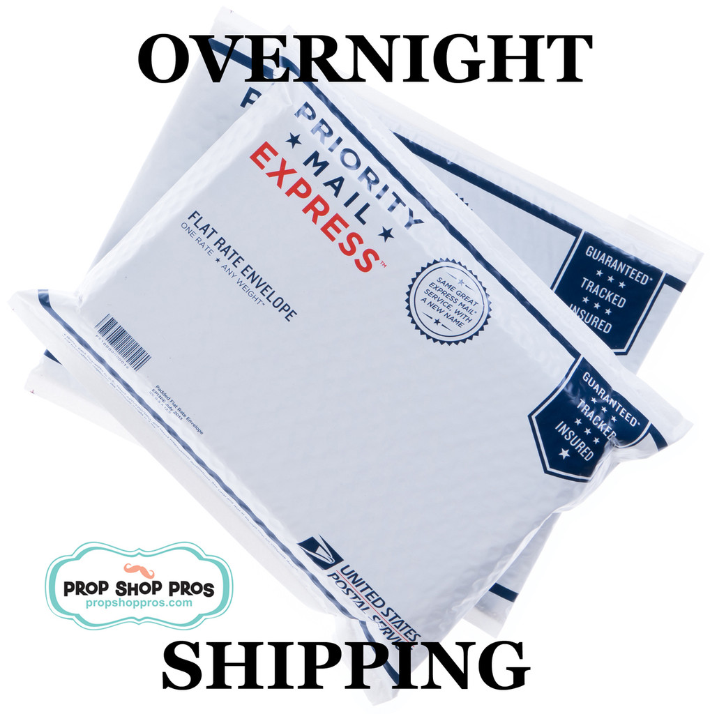 Prop Shop Pros Overnight Shipping for Photo Booth Props