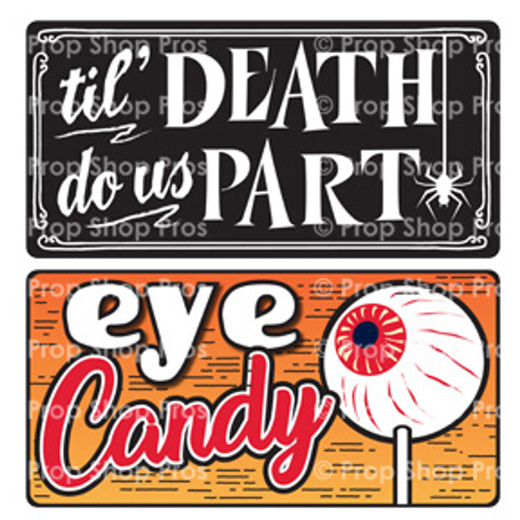Prop Shop Pros Halloween Photo Booth Props Til Death Do Us Part & Eye Candy