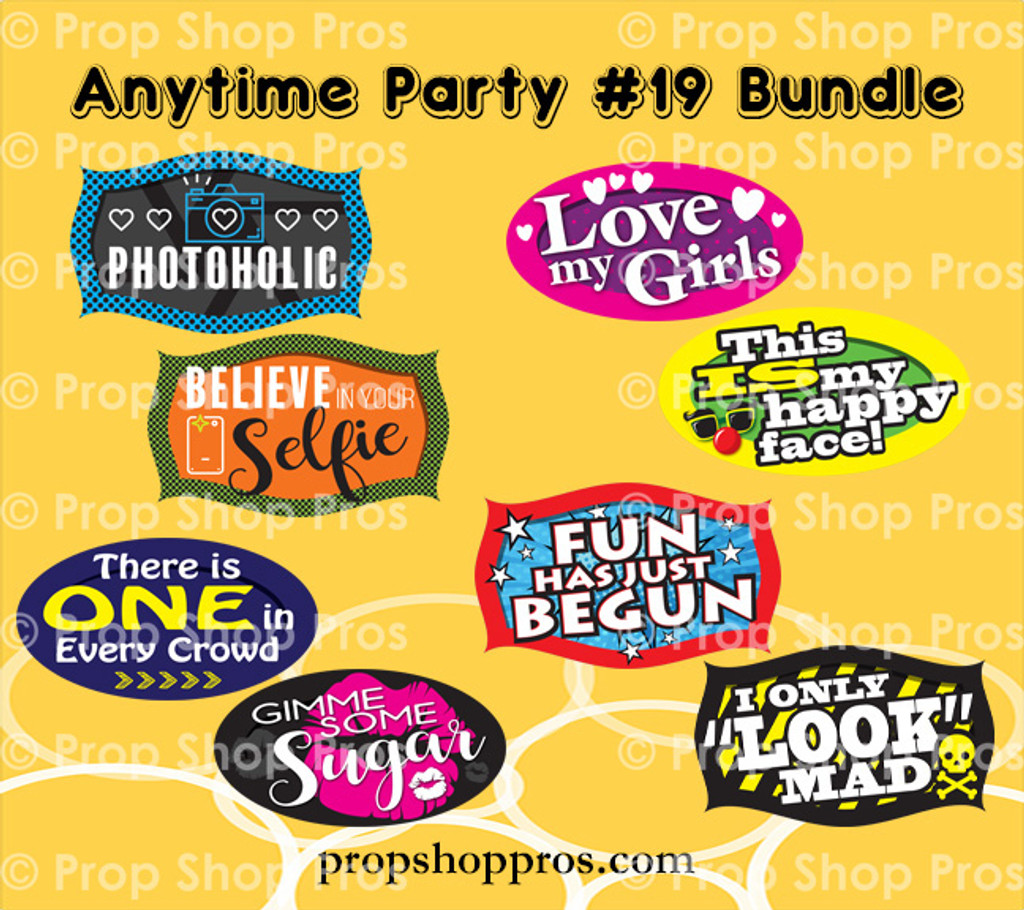 Party Signs | Anytime Party 10-19 | Photo Booth Props