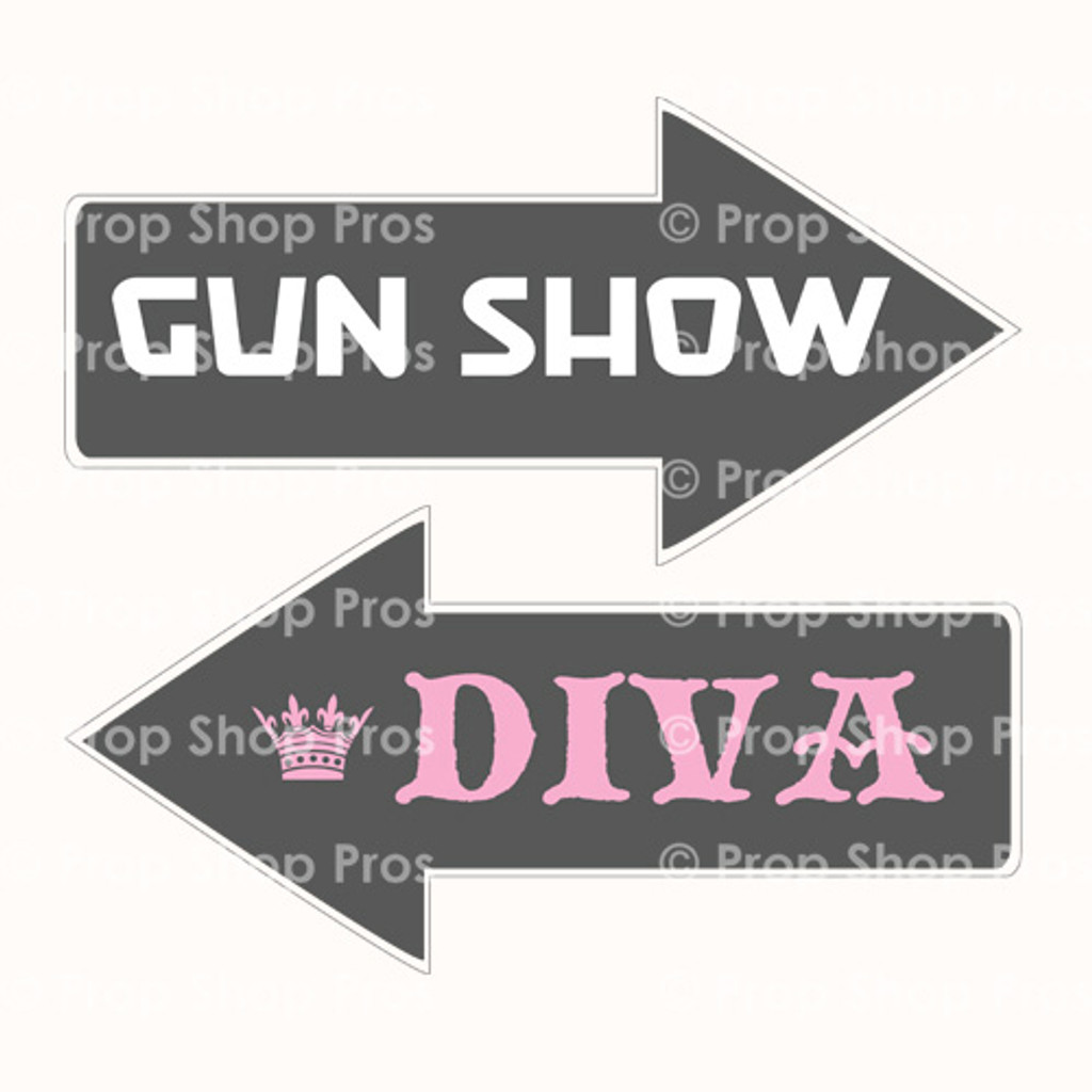 Photo Booth Props Gun Show & Diva