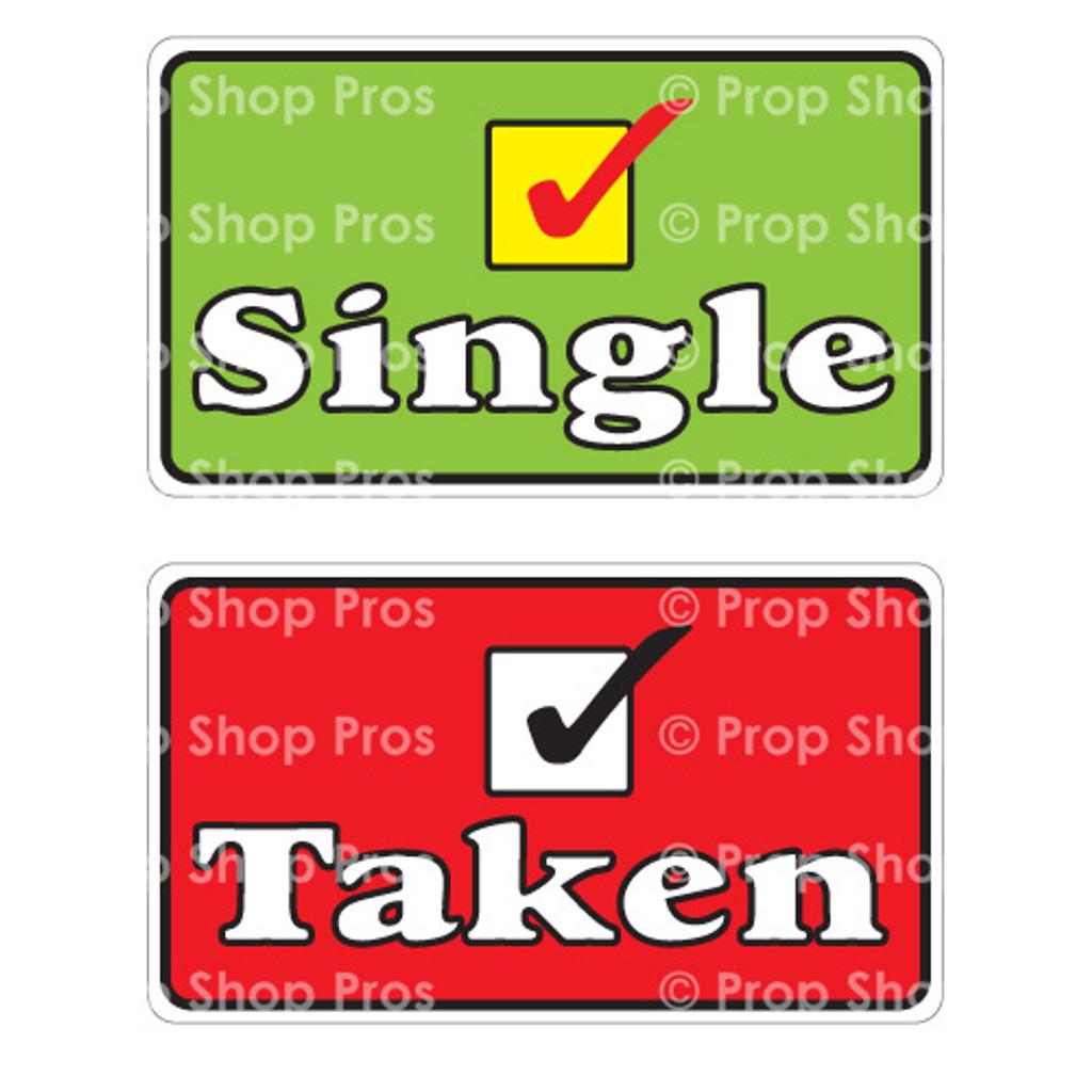 Photo Booth Props Single & Taken
