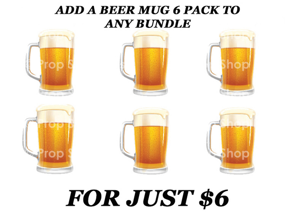 Beer Mug 6 Pack | B-STOCK | Photo Booth Props | Prop Signs