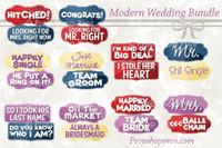 Prop Shop Pros Wedding Photo Booth Props Modern
