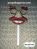 Nutty Scientist Stick Props | Photo Booth Props | Stick Props
