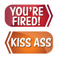 Prop Shop Pros Corporate Photo Booth Props You're Fired & Kiss Ass