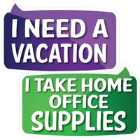 Prop Shop Pros Corporate Photo Booth Props I Need A Vacation & I Take Home Office Supplies