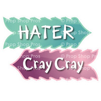 Prop Shop Pros Sweet Sixteen Photo Booth Props Hater & Cray Cray