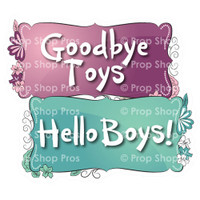 Prop Shop Pros Sweet Sixteen Photo Booth Props Goodbye Toys & Hello Boys