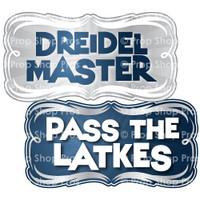 Prop Shop Pros Hanukkah Photo Booth Props Dreidel Master & Pass The Latkes