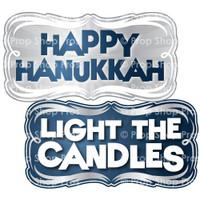 Prop Shop Pros Hanukkah Photo Booth Props Happy Hanukkah & Light The Candles