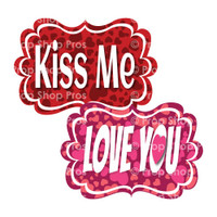 Prop Shop Pros Valentines Photo Booth Props Kiss Me & Love You